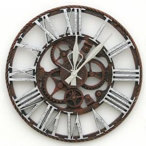 두리데코 톱니바퀴시계 대(실버)