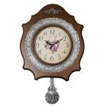 통나무포도주석추벽시계(플라워)