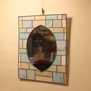스테인드글라스 거울 jy06