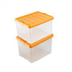 점보리빙박스 60L 2개세트 (오렌지)
