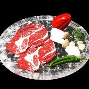 고기가 타지않는 원적외선 천연보석 수정피아 수정불판-원형300mm